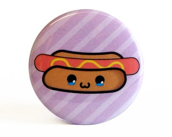 Cute 38mm 1.5 Inch Hot Dog Badge
