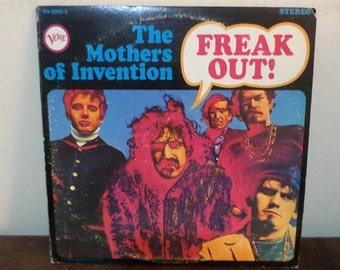 Vintage 1966 Vinyl LP Record Freak Out! The Mothers of Invention Frank Zappa NEAR MINT Condition 13633