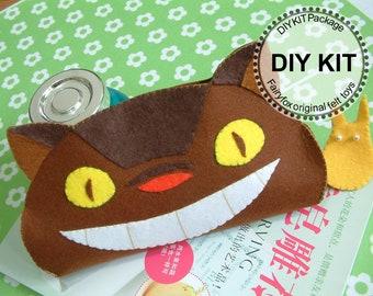 DIY felt Totoro pen bag, pencil case-DIY Kit Package -K-H06