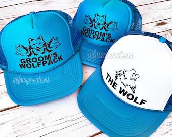 Groomsman Trucker Hat | Wolfpack Trucker Hat | Bachelor TRUCKER Hats | Bachelor Party Hats | Team Groom Hats | Snapback Trucker Caps