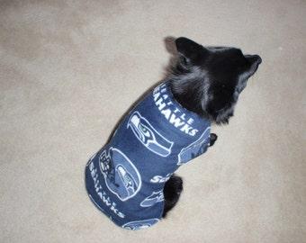 Seattle Seahawks Fleece Dog Coat
