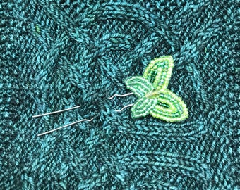 Green Butterfly Shawl or Hair Pin