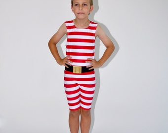 Strongman High Neck Costume for Little Children with Belt