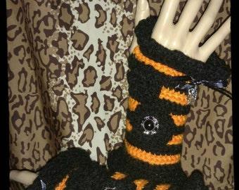 Halloween Crochet Wrist Warmers