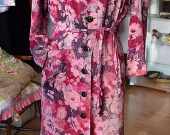 Late 1930's Floral House Robe