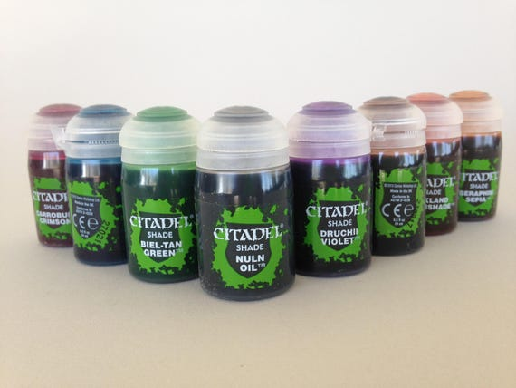 Save when you get the fulll set of Citadel shades get all 10 colors, formulated to flow over other paints and into the recesses