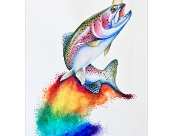 The Elusive Rainbow Trout-icorn
