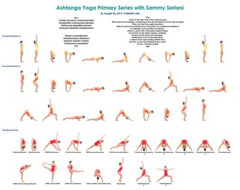 "8.5"" x 11 "" Laminated Ashtanga Yoga Primary Series Card"