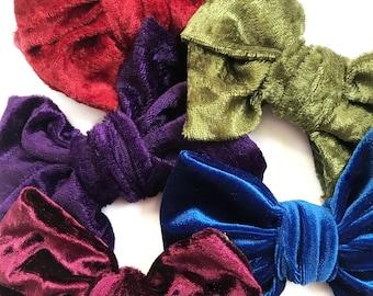 Faux headwrap bow / big bow / velvet / crushed velvet