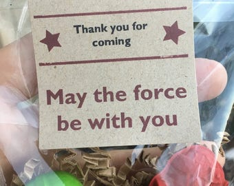 Star Wars Valentine // Kids Valentine Crayons // Stormtrooper FAVOR Crayons // Crayon Goodie Bag // Star Wars Favor // Non Candy Valentine