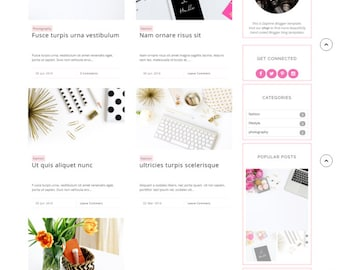 Free Installation - Responsive blogger template lifestyle fashion beauty food travel feminine blog theme -Daphne ( Free Installation )