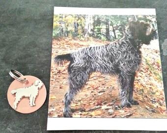 Benutzerdefinierte Hund TaGette Schlüsselanhänger FOB-Sterling-Silber, Kupfer, Pet Memorial, Andenken, Geschenk-Idee