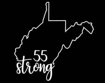 West Virginia 55 strong decal WV 55 strong