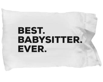 Babysitter Pillow Case, Gifts For Babysitter, Best Babysitter Ever, Babysitter Pillowcase, Christmas Present, Babysitter Gift