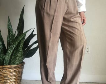 ombre silk high waisted trousers