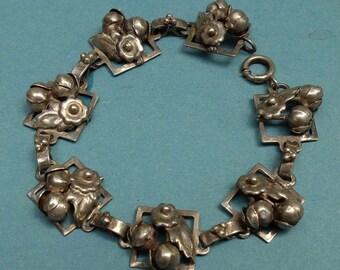 Vintage Sterling Bracelet Metal Linked 1950s