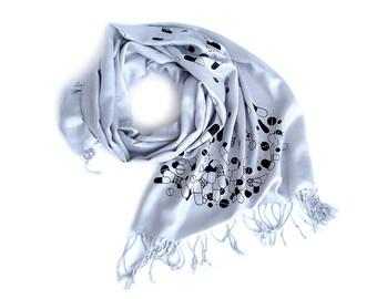 Chill Pill scarf. Pill spill pashmina scarf. Womens scarf, mens scarf. Gift for pharmacist, pharma rep, pill popper, raver, doctor, nurse.
