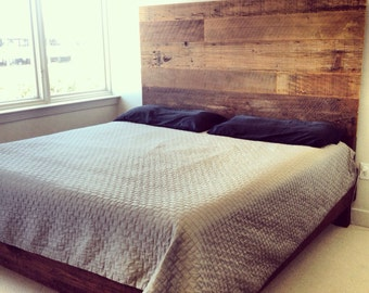 Reclaimed Wood Bed (Brown)