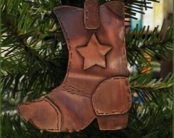 Copper Cowboy Boot Ornament