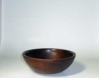 Hand Made Walnut Bowl Handturned Wooden Bowls Walnut Salad Bowl