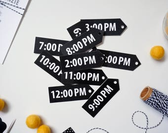 Time Tags for Around-The-Clock Shower
