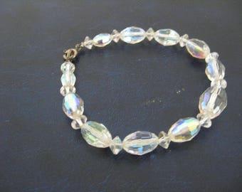 Aurora Borealis  Ab Crystal Quartz Graduated Bead