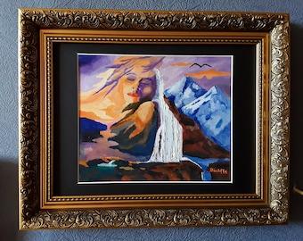 Stunning Surrealist Oil Painting on Canvas