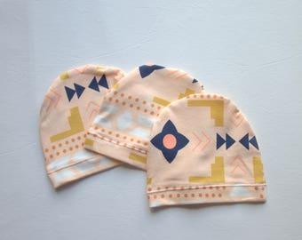 Newborn Beanie Hat - Aztec Infant Hat - Baby Beanie - Aztec Baby Gift - Baby's First Hat - Newborn Photo Prop - Made 4U Handmade Designs
