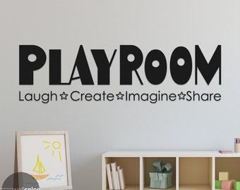 Playroom Laugh Create Imagine Share Vinyl Wall Decal Sticker