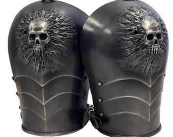 Larp Armor, Skull Spaudlers, shoulders, SCA, larp, cosplay