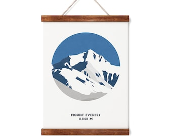 Mount Everest Print, Nepal, Mountain print, A4 Print, Gifts for him or her