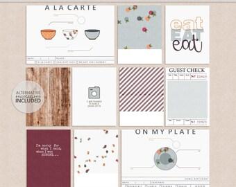 Food Notes - Journal Cards - Digital - Printable
