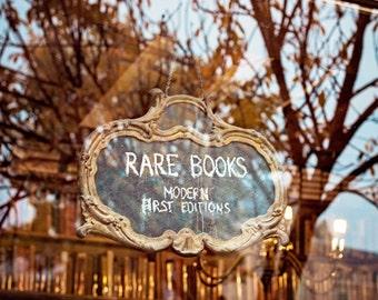 Paris Print, Paris Photograph, Paris Bookstore Fine Art Photograph, Literary Rustic Home Decor, Paris Decor, Book Lover - Rarities