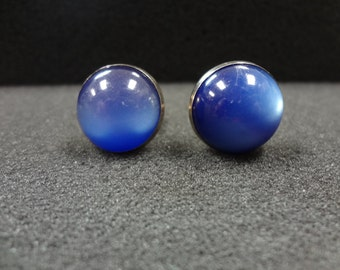 a411 Vintage Blue Stone Cuff links