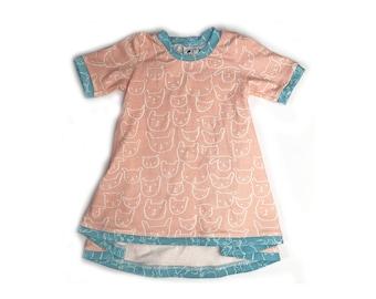 Happy Menagerie Tunic Dress ~ bunny Dress ~ animal dress ~ toddler dress ~ baby dress ~Spring Dress