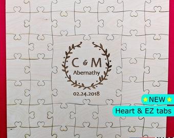 Guest book puzzle, wedding guest book puzzle, wooden puzzle guest book, guest book alternative, jigsaw puzzle