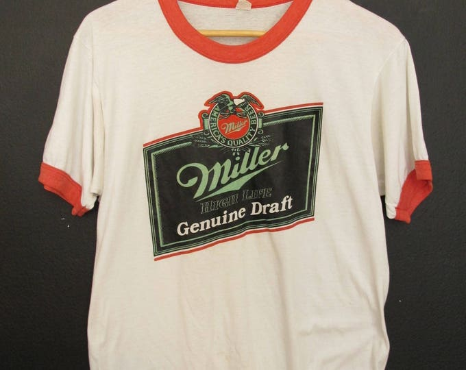 Miller Genuine Draft Beer 1980's Vintage Tshirt