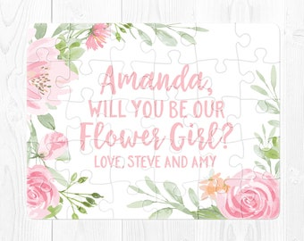 Flower Girl Proposal Puzzle Ask Flower Girl Puzzle Proposal Pink Flower Girl Proposal Card Will You Be My Flower Girl Puzzle Proposal Green