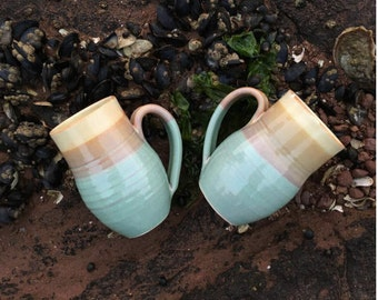 Coffee Tea Mug Sandy Seafoam