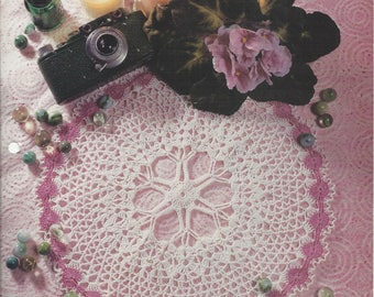 Going In Circles Crochet Doily Pattern, Home Decor, Table Topper, Cotton Thread Lace Crochet Doilies, Centerpiece, Kitchen Decor