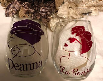 Personalized 15 oz Stemless Wine Glasses