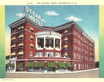 Greenville, South Carolina, Ottaray Hotel - Vintage Postcard - Postcard - Unused (KK)