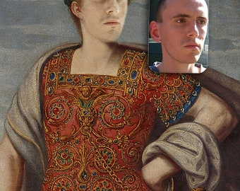 Be the Emperor on old oil painting * Classic masterpiece style wall artwork * Printable file or printed on demand