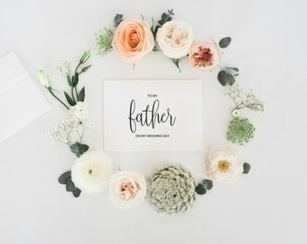 To My Father On My Wedding Day Card, To My Father Card, Wedding Card, Thank You Card, To My Dad Card Printable, To My Dad Card, Digital PDF