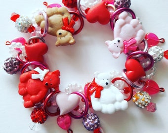 Stuffed teddy bear bracelet/Beadiebracelet