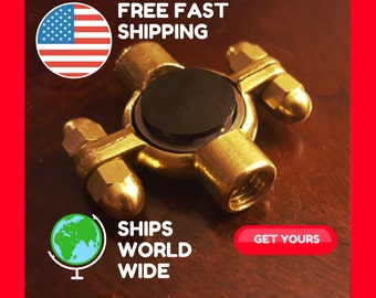 Metal Fidget Spinner | Fidget Spinner | Fidget Toy | Fidget Spinner Metal | Hand Spinner | Spinner ***Hex-Wing Acorn*** (Anxiety Relief)
