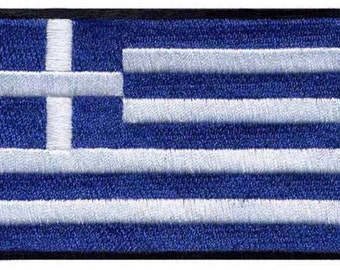 Greece Flag Iron On Patch 3x2 inch Free Shipping
