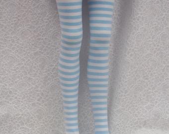 Dollfie Dream DD Baby Blue & White Stripe Socks