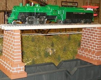 Model Railroad TALL O Gauge Bridge Piers - Set of 2