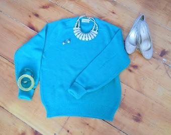 Kelly Green Vintage Wool Sweater | Ingo | M/L